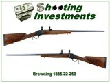 Browning 1885 High Wall 22-250 28in Octagonal barrel - 1 of 4
