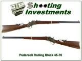 Pedersoli 45-70 Navy Arms Rolling Block 26in heavy barrel rear tang sight
