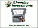Ruger New Vaquero .357 Mag 4.75 in Blued in case