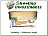Browning 22 Auto Maple Stock 22in Short NIB!