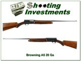 Browning A5 1958 Belgium First Year 20 Ga collector!