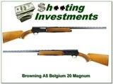 Browning A5 67 Belgium First Year Magnum 20 Ga!