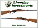 Ruger No.1 Tropical 458 Win Mag 1976 Liberty near new!