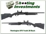 Remington 870 Youth Deer Stalker 20 in rifled barrel 20 gauge! - 1 of 4