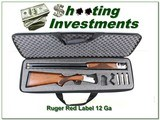 Ruger Red Label 12 Ga near new 30in extended tubes in factory case!