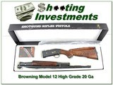 Browning Model 12 High Grade 5 20 XX Wood NIB