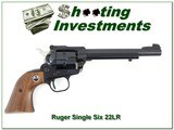 """Ruger Single Six 3 Screw Revolver 6.5"""" 1968 near new 22 Mag"""