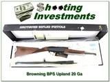 Browning 125th Anniversary BPS 20 Ga Upland Special NIB