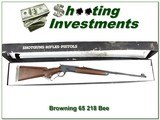 Browning Model 65 new and unfired in Box 218 Bee!