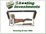 Browning 22 Auto 100 Year 22 LR Octagonal High Grade 100 made! - 1 of 4