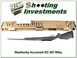 Weatherby Mark V Accumark RC 257 Wthy factory new - 1 of 4