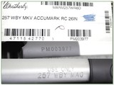 Weatherby Mark V Accumark RC 257 Wthy factory new - 4 of 4
