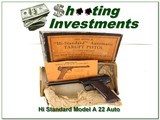 Hi-Standard Model A Target 22LR in box - 1 of 4