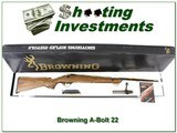 Browning A-Bolt 22LR RARE Laminated New and Unfired in box! - 1 of 4