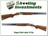 Ruger Red Label 1998 Ducks Unlimited 12 Ga Exc Cond