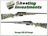 Savage Model 220 20 Gauge slug gun with Realtree Camo!