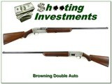 Browning Double Auto pre-1960 Silver 12 Ga hard to find 30in