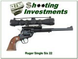 Ruger New Model Single Six 9.5in 22 with 6-2 scope - 1 of 4