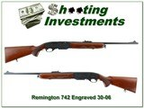 Remington 742 factory engraved 1961 made 30-06