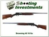 Browning A5 Grade II pre-war 1930 made 16 Gauge Solid Rib