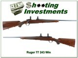 Ruger 77 243 Flatbolt early 1969 Red Pad!