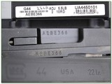 Glock G44 22LR unfired in case with 2nd threaded suppressor ready barrel - 4 of 4