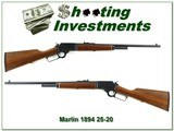 Marlin 1894 CL CLASSIC JM Marked RARE 25-20 Exc Cond!