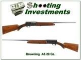 Browning A5 20 Ga 1959 Belgium made 26in Mod