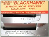 Ruger Super Black Hawk Stainless 7.5in Exc COnd - 4 of 4