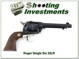 Ruger Single Six 3 screw flat top 2 tone 22LR - 1 of 4