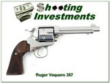 """Ruger New VaqueroStainless 357 Mag 5.5"""" Exc Cond - 1 of 4"""