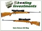 Sako L461 Deluxe 222 Magnum Bofors Steel top collector!
