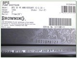 Browning BPS Engraved 30 year anniversary 12 Ga NIB - 4 of 4