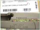 Weatherby Mark V Camilla Subalpine 240 Wthy Mag NIBwea - 4 of 4