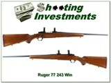 Ruger 77 Red Pad pre-warning 243 Win Exc Cond!