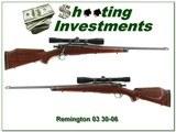 Remington 1903 Sporter 1943 barrel 6X Lyman scope Exc Cond!