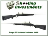 Ruger 77 All-Weather Stainless Skeleton 30-06 near new