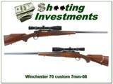 Winchester Model 70 Custom 7mm-08 Varmint Heavy barrel scope
