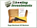 Ruger Blackhawk 357 Maximum Unfired in box!
