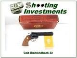 Colt Diamondback 6in blued UNFIRED in BOX!