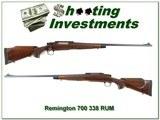 Remington 700 BDL Custom Deluxe engraved 338 RUM