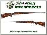 Weatherby Mark V Crown Custom LH 7mm Wthy!!!