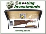 Browning 22 Auto Grade II Octagonal barrel XX Wood NIB