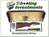 Browning 22 Auto 100 Year 22 LR Octagonal High Grade only 100 made!