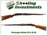 Remington Model 25 Pump 25-20 Rem Rare