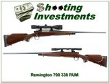 Remington 700 BDL Enhanced Engraved 338 RUM Exc Cond!