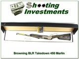 Browning BLR Stainless Laminated Takedown RARE 450 Marlin new!