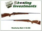 Weatherby Mark V Varmintmaster 22-250 hard to find 26in near new!