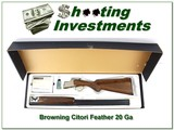 Browning Citori Feather 20 Ga 28in Invector Plus in box