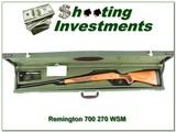 Remington 700 NWTF 270 WSM in hard case